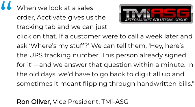 Inventory and sales software user: Tmi-ASG