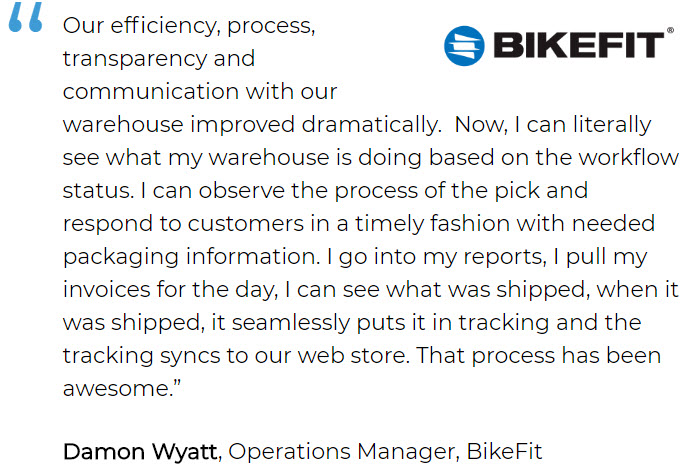 Parts inventory software user BikeFit