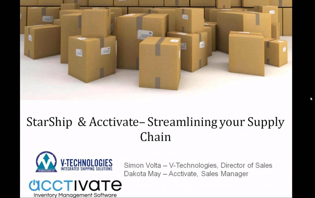 Acctivate + StarShip: Streamlining Your Supply Chain