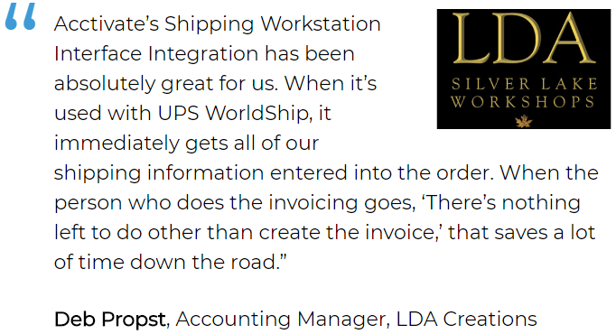Inventory and order tracking software user, LDA Creations