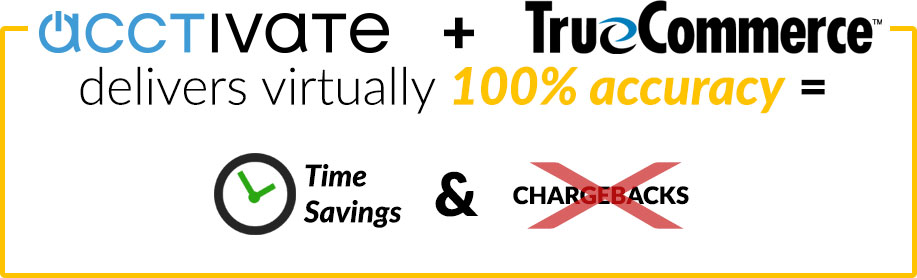 Acctivate + TrueCommerce delivers virtually 100% accuracy