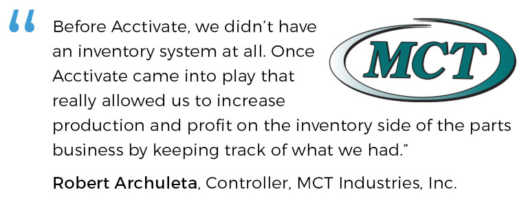 Truck parts inventory software boosts efficiency for MCT Industries