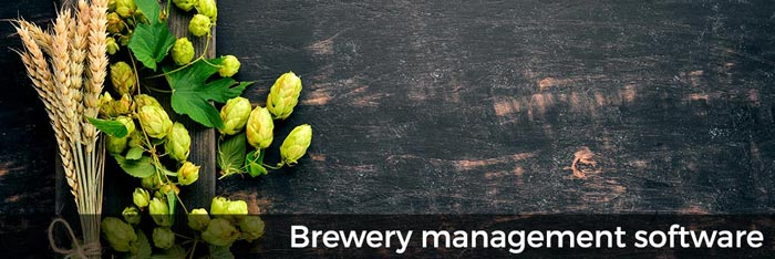 Brewery management software