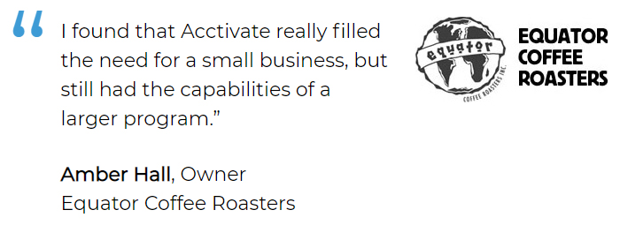 Supply chain management software for small business filled the need for Equator Coffee Roasters