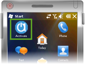 Acctivate install mobile - Select Acctivate