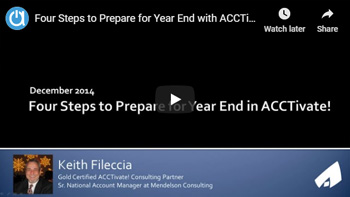 Consulting Webinar: Four Steps to Prepare for Year End