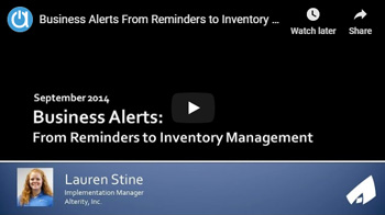 Acctivate Webinar: Business Alerts