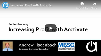 Consulting Webinar: Increasing Profit with Acctivate