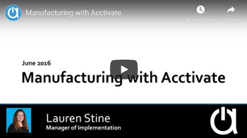 Addon Modules Webinars: Manufacturing