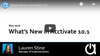 Acctivate Webinar: What's New in Acctivate 10.1