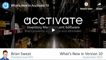 Acctivate Webinar: What's New in Acctivate 10