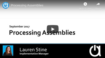 Addon Modules Webinars: Processing Assemblies