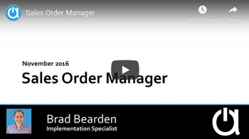 Acctivate Webinar: Sales Order Manager