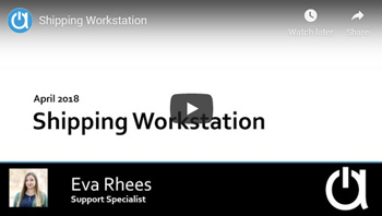 Addon Modules Webinars: Shipping Workstation