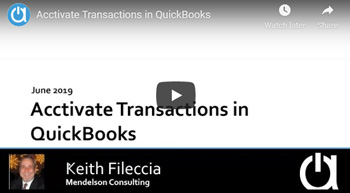 Consulting Webinar: Acctivate Transactions in QuickBooks