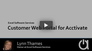 Consulting Webinar: Customer Web Portal for Acctivate by Excel Software Services