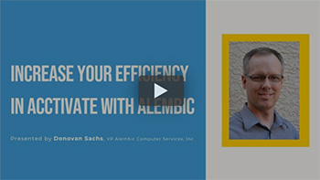 Webinar: Increase your efficiency in Acctivate with Alembic