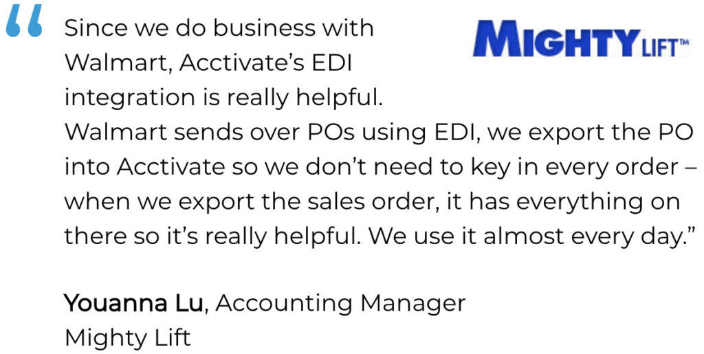 Walgreens EDI User Mighty Lift